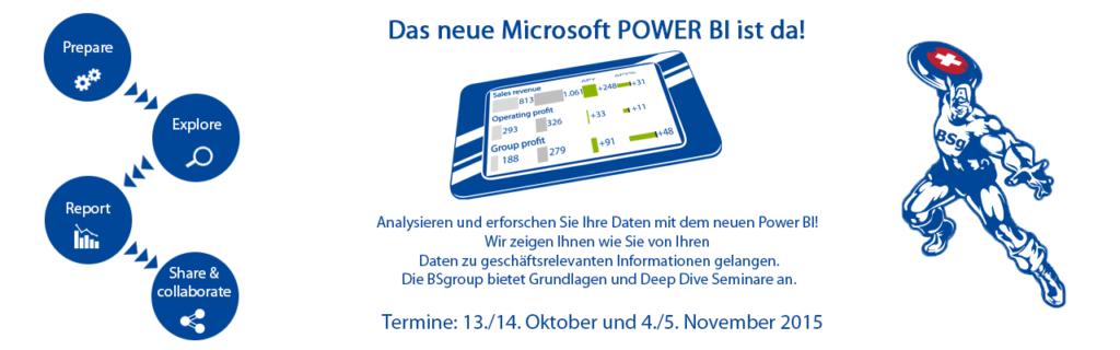 Microsoft POWER BI Seminare - Deltamaster